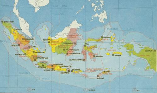 Map Of Indonesia | Peta Indonesia