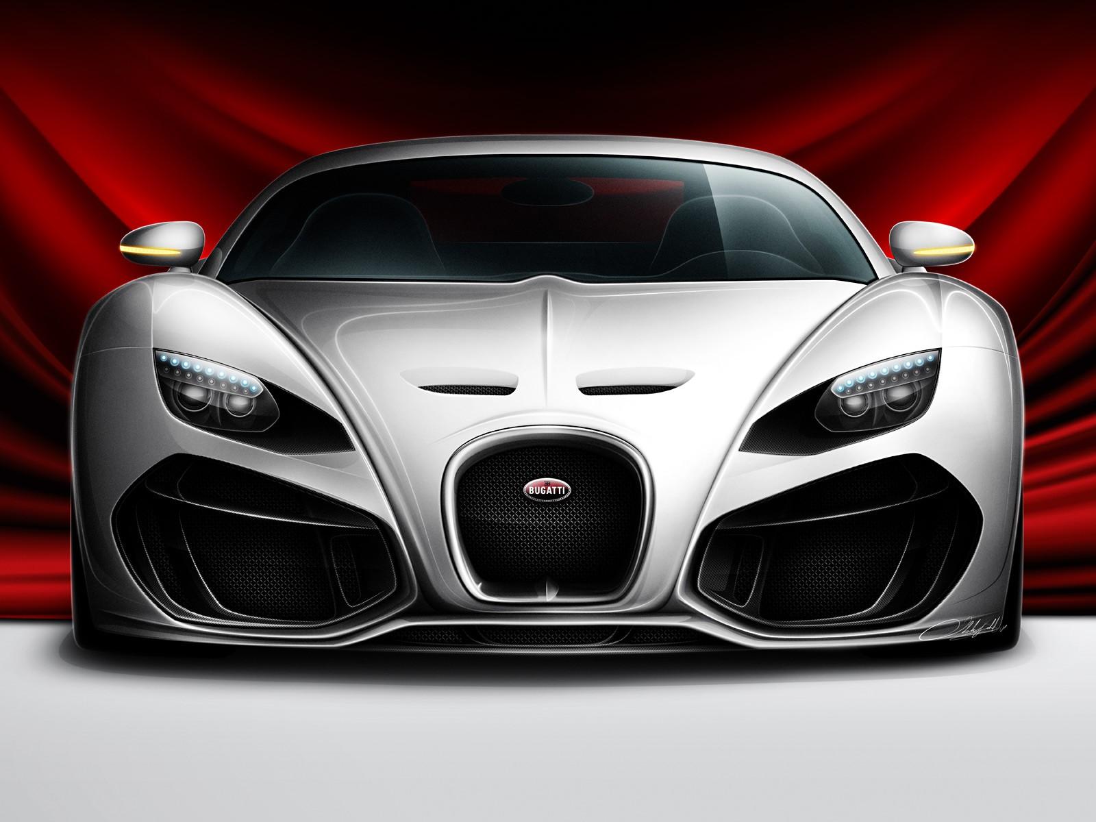 Bugatti venom concept front view hd