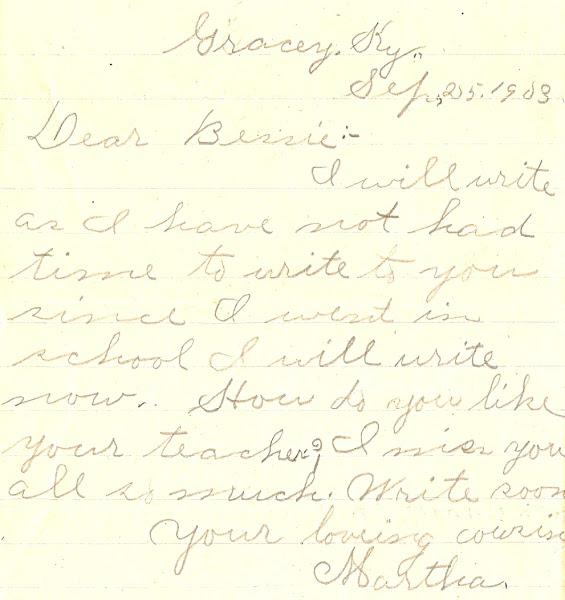 Schoolgirl note, 1903