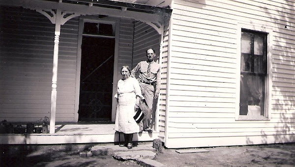 Granny & Uncle Guy on the porch