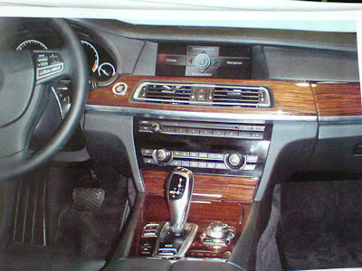 2009 BMW 7 Series Interior Spy Photo