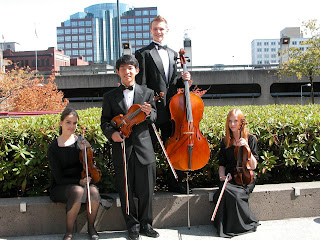 Tacoma Youth Symphony string quartet