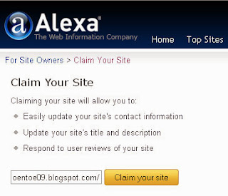claim blog to alexa.com
