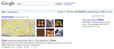 Google results for Paris