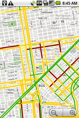 Info sul traffico di Google Maps