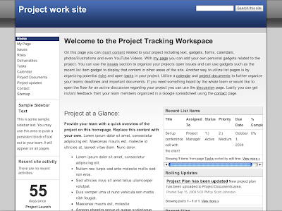 Project Tracking Sites Team And Employee Profile Pages Templates Let You Quickly Start A New Site With Pre Built Content Embedded Gadgets