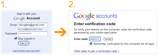 step%2B1 2 Google improves sign in security of Google account