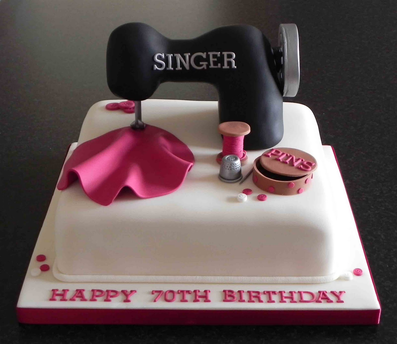 Cake By Lisa Price Sewing Machine Cake