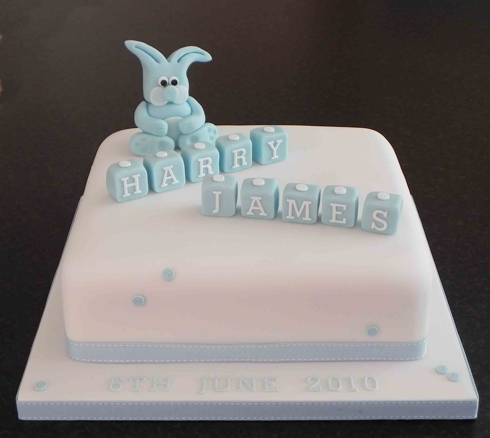 Free Cake Info Cute as a button christening cakes