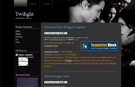 Blogger Templates - Twilight 2 Template