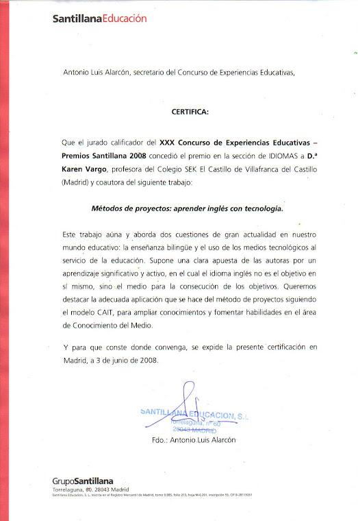 Premio Santillana Project Description