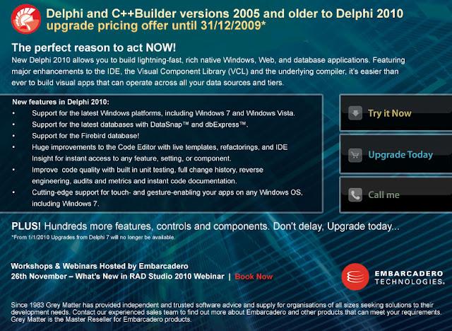 Para los fanáticos del Delphi, acá les traigo el último Delphi 2010, en ver