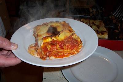 opwarmen lasagne magnetron