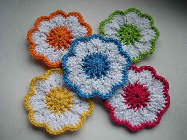 Crochet Patterns Online : Whiskers & Wool: Springtime Coasters Crochet Pattern - FREE