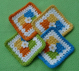 Crochet Memories, Free Pumpkin Pie Potholder Pattern