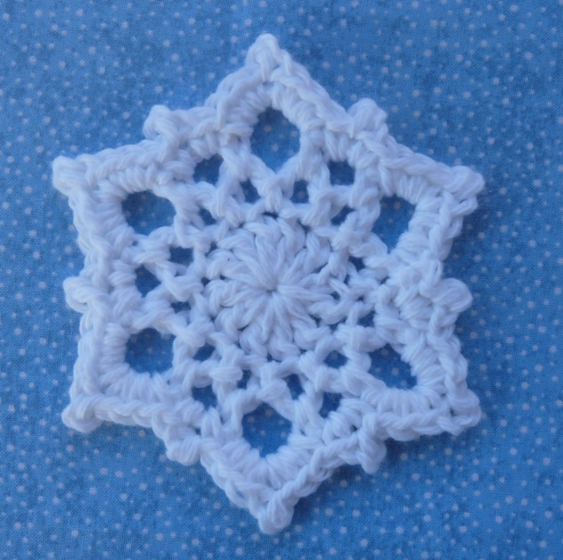 Beaded crochet snowflake free pattern for a beaded crochet snowflake