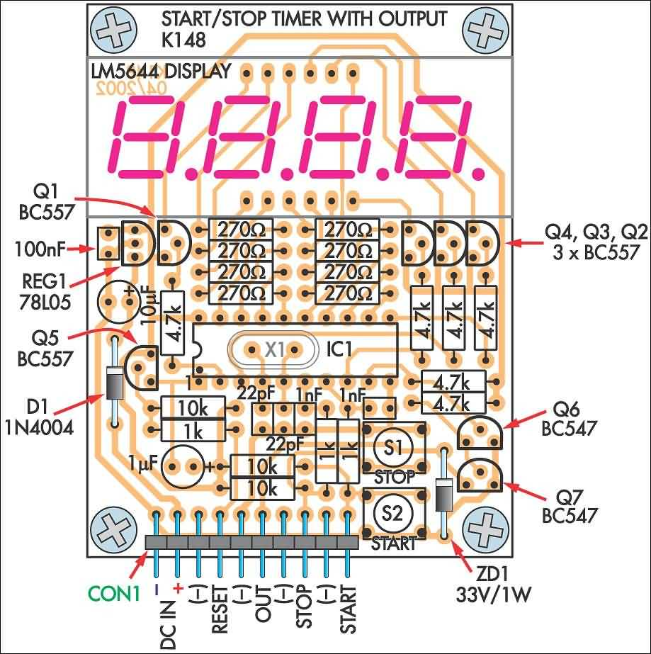 Zulfiqar Aadil 4 Digit Crystal Controlled Timing Module Voice Logic Probe By Transistor Bc557 Output Open Collector Npn 100ma 30v Power Supply 9 12v Dc 50ma Display 7 Segment Led With Decimal Point