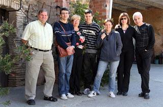 Pere, Lluís, Fina, Lluis Jr.,Cristina, Glòria i Josep