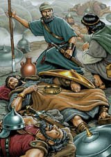 David spares Saul