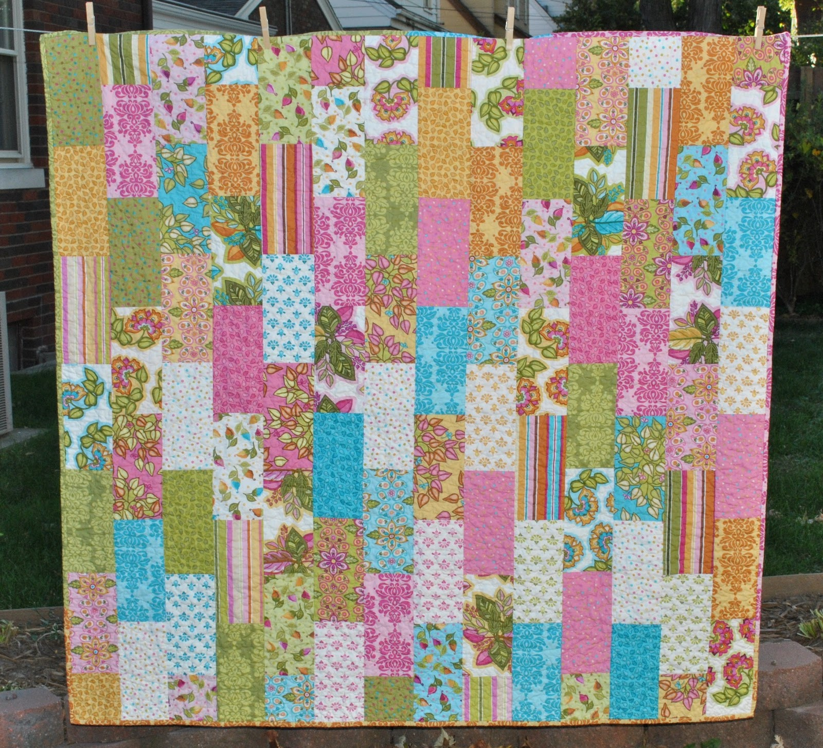 The Girl Who Quilts Quick Trick Brick Stack Quilt