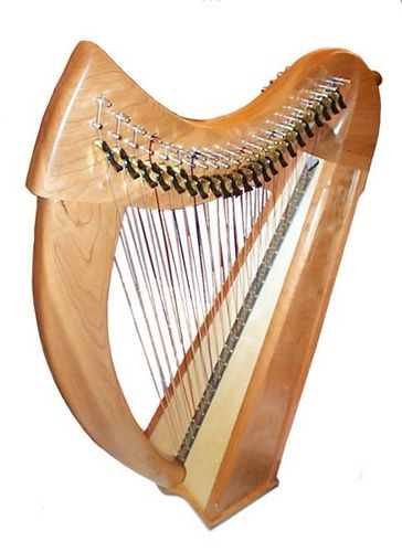 how to play a small harp
