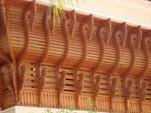 Wood work in teak for balcony