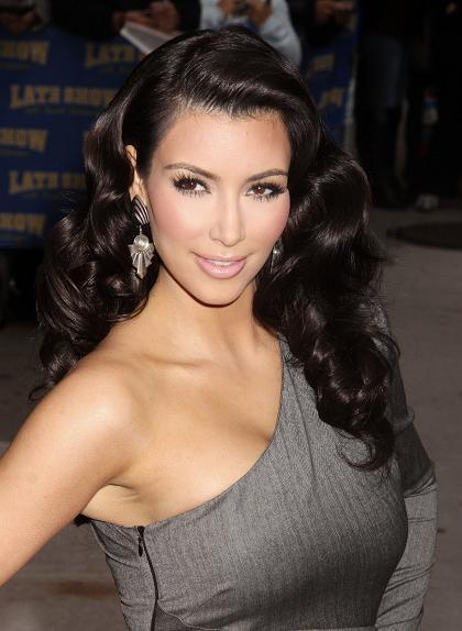 Kim Kardashian Old Hollywood Hair