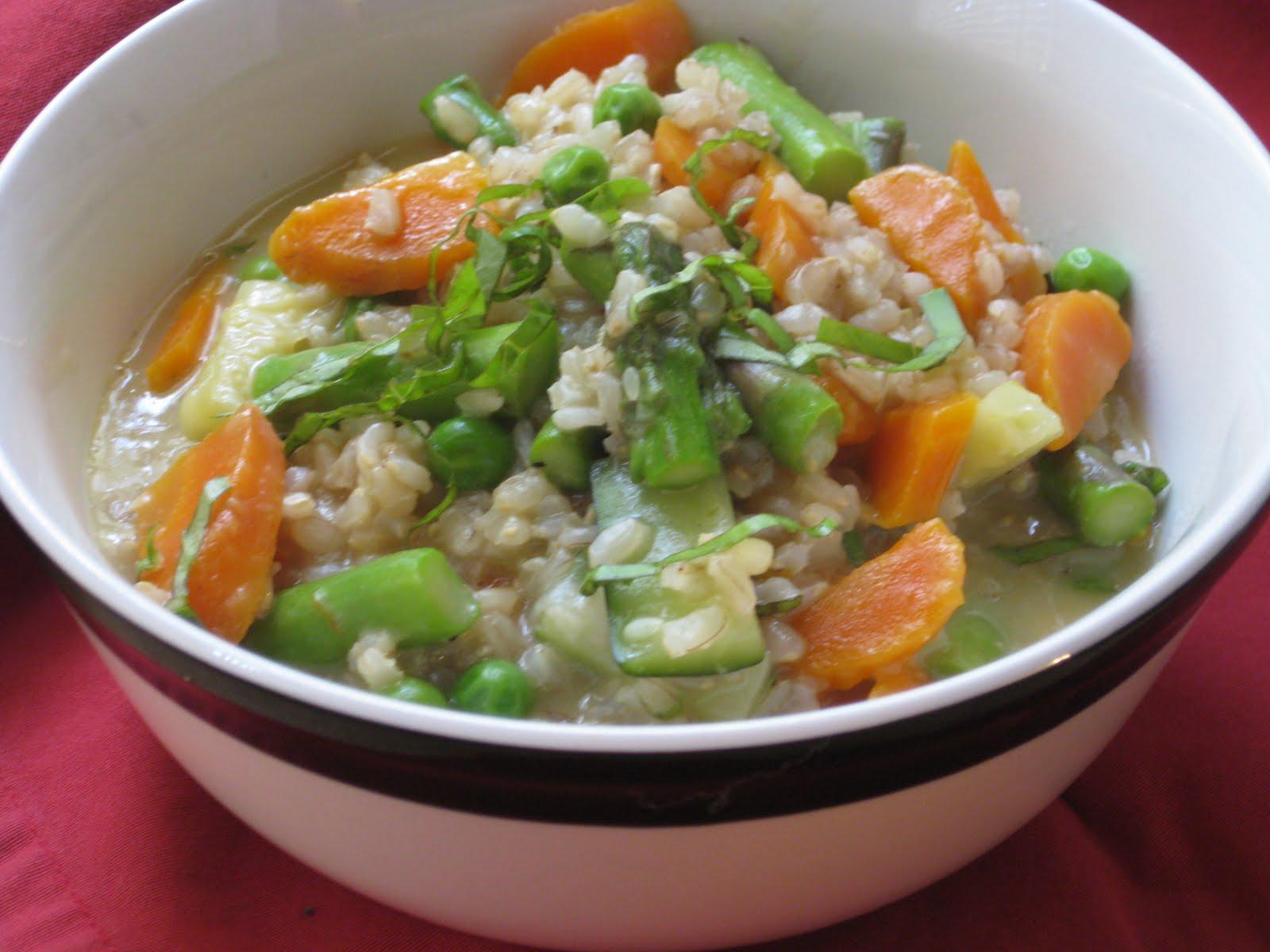 Chow Bella: Brown Rice Risotto alla Primavera