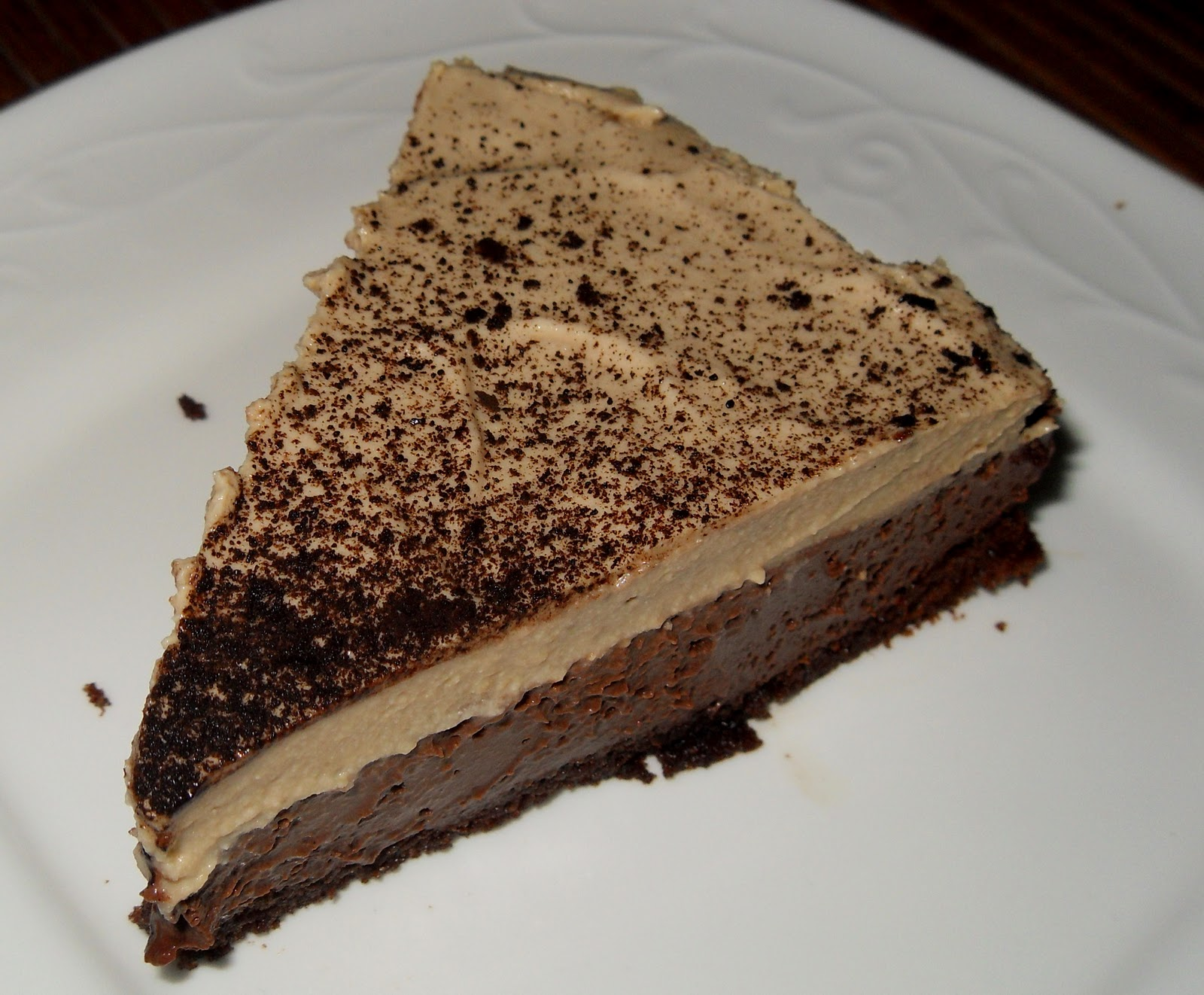 Triple Layer Coffee Chocolate Mousse Cake