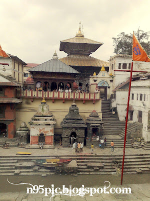 Pashupatinath from across the bagmati river