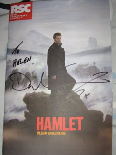 David Tennant's autograph on my friend's Hamlet programme