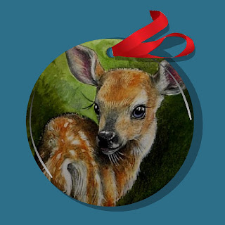 Charming Baby Deer Christmas Ornament