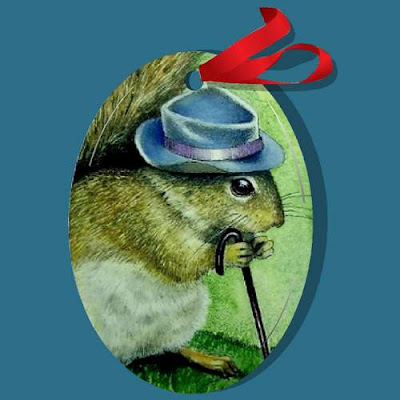 Squirrel in A Hat Art