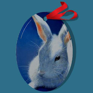 Bunny rabbit Christmas Ornament