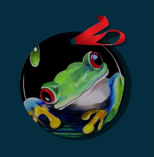 Miniature Frog Art Ornament