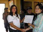 Entrega de Certificado a la ETAR de Pesca