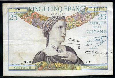 French Guiana 25 francs banknote