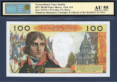 France 100 New Francs Napoleon