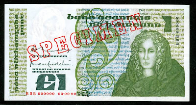 Republic of Ireland banknotes Irish pound banknote collectible currency