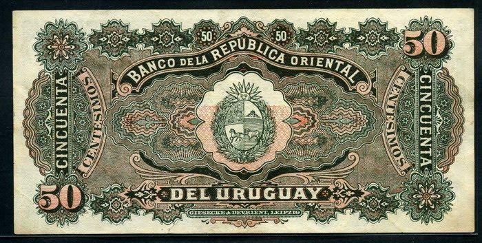 Uruguay 50 Centesimos 1934 World Banknotes Amp Coins
