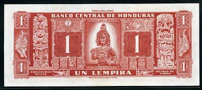 Lempira Honduras banknotes currency collection Notafilia Numismática