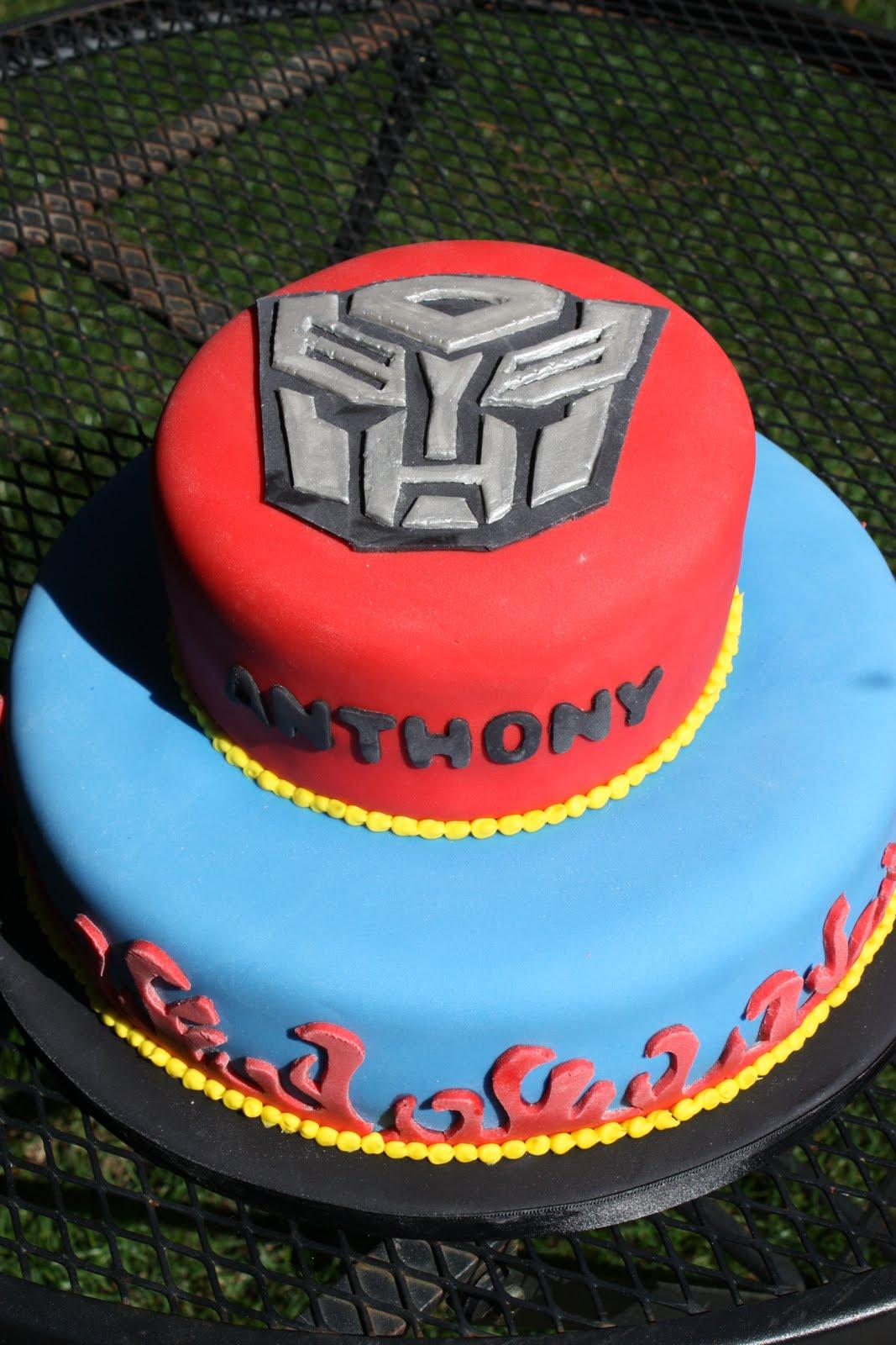 Whimsical By Design Transformer Birthday Cake
