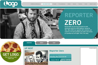 screenshot Logo TV Randy Shilts Reporter Zero documentary