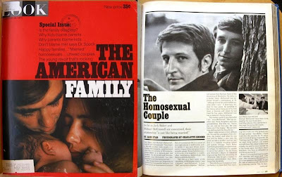 Jack Baker and Michael McConnell shown in story on gay marriage in Look magazine Jan. 26, 1971, p. 69 (yes, that is the real page number)
