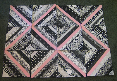 modern ombre + b/w triangle quilt tutorial + pattern - see