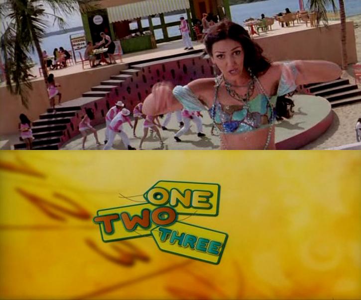 bollywood videosongs one two three hindi movie video