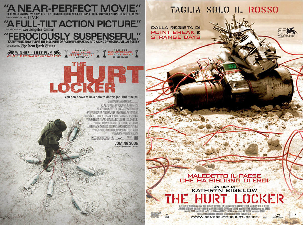 the hurt locker The hurt locker thus enters the select group of war films that address in a masterly way the eternal question why should man fight for reasons he does not know.