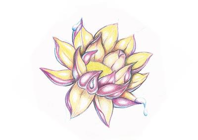 L 39 atelier de c leste - Comment dessiner une fleur de lotus ...