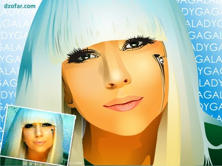 LADY GAGA Real Vector