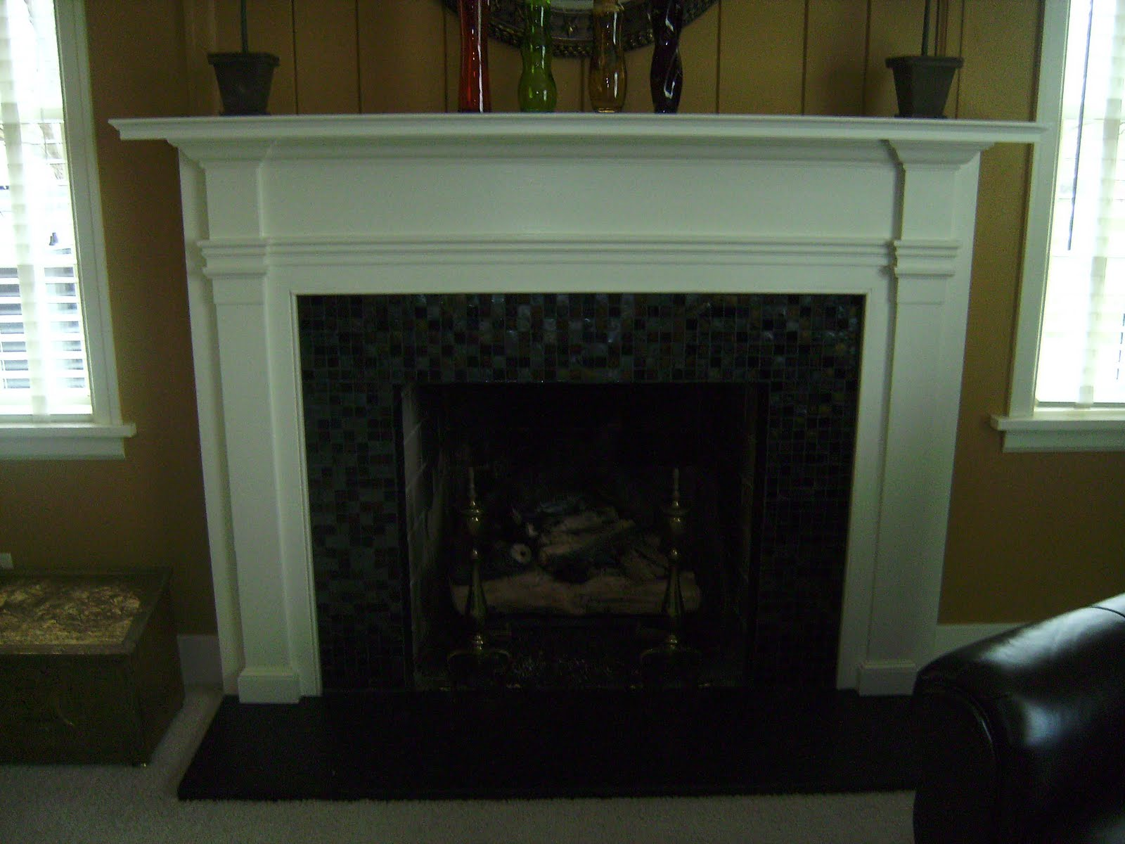 knapp tile and flooring inc glass tile fireplace surround